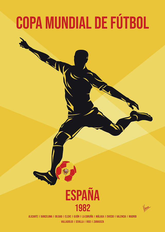 No12 My 1982 Spain Soccer World Cup poster by Chungkong Art