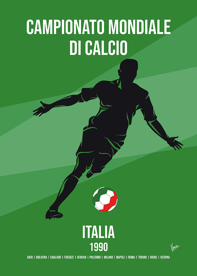No14 My 1990 Italia Soccer World Cup poster by Chungkong Art