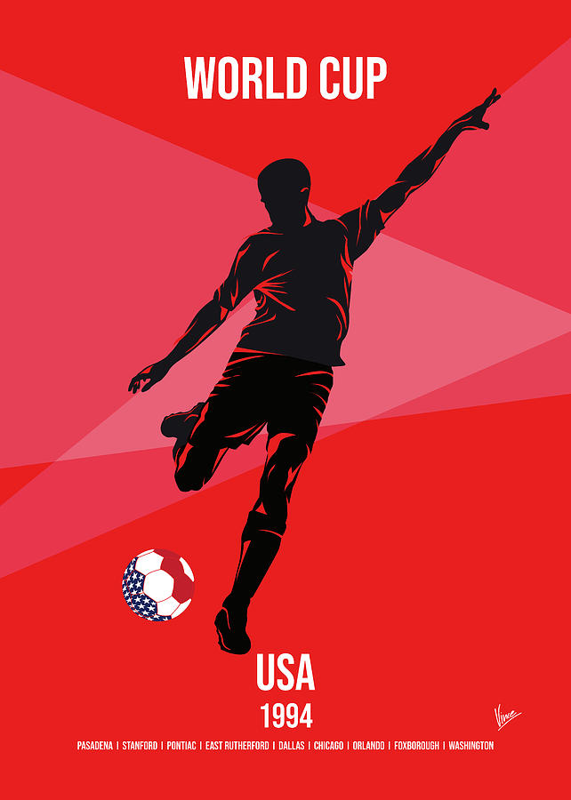 No15 My 1994 USA Soccer World Cup poster by Chungkong Art