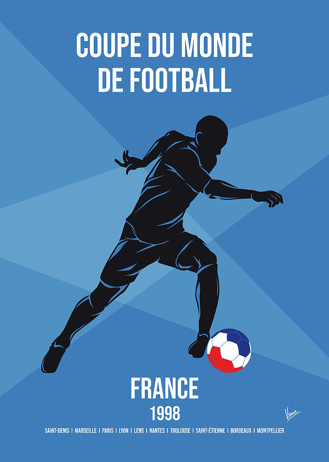 No16 My 1998 France Soccer World Cup poster by Chungkong Art