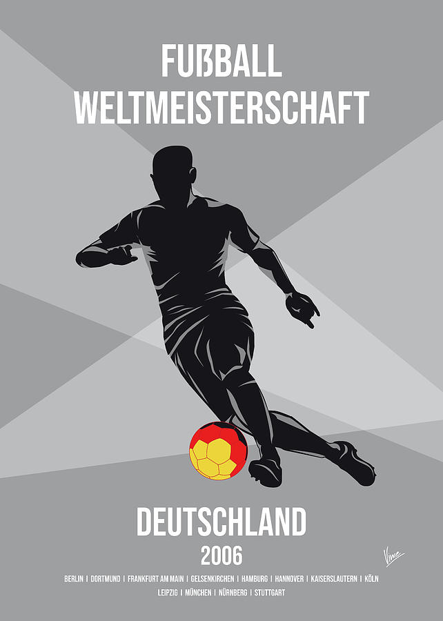 No18 My 2006 Germany Soccer World Cup poster by Chungkong Art
