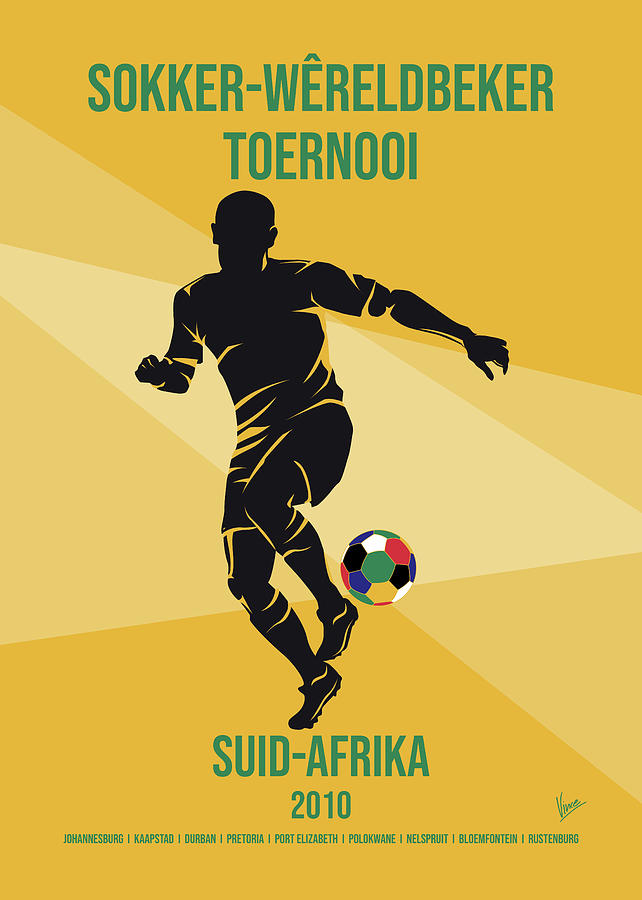 No19 My 2010 South Africa Soccer World Cup poster by Chungkong Art