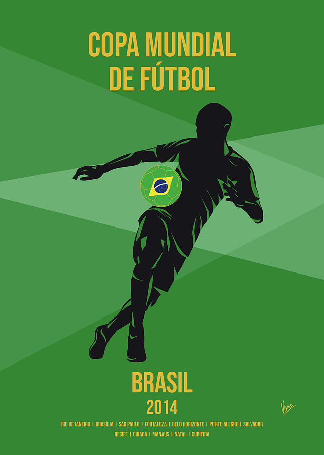 No20 My 2014 Brasil Soccer World Cup poster by Chungkong Art