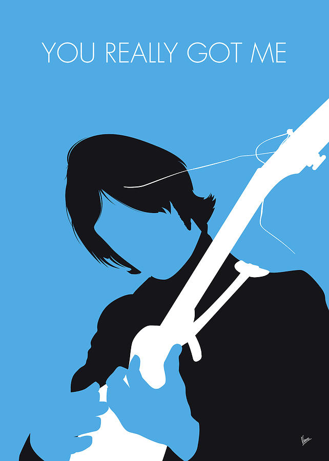 No229 MY THE KINKS Minimal Music poster by Chungkong Art