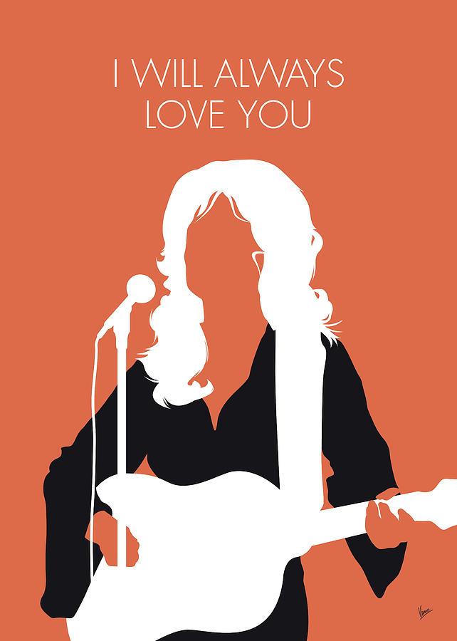Dolly Digital Art - No273 My Dolly Parton Minimal Music Poster by Chungkong Art