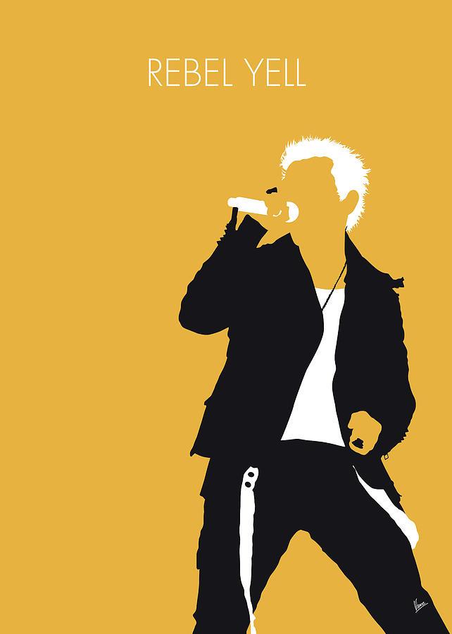 No284 MY Billy Idol Minimal Music poster by Chungkong Art