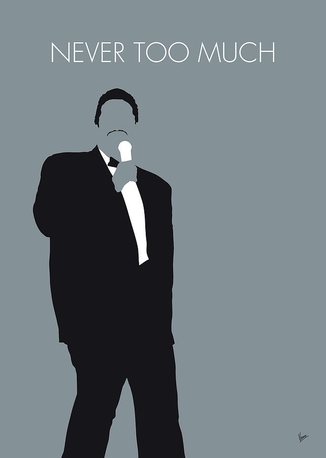 No287 MY Luther Vandross Minimal Music poster by Chungkong Art