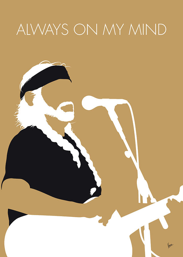 No290 MY Willie Nelson Minimal Music poster by Chungkong Art