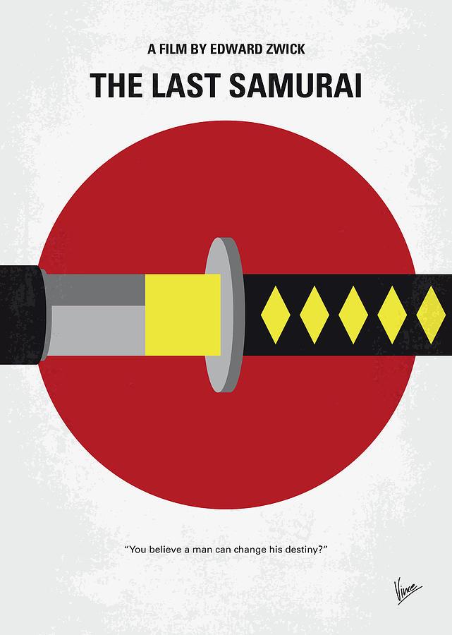 Last Digital Art - No980 My Last Samurai Minimal Movie Poster by Chungkong Art