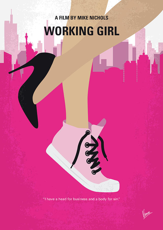 Working Digital Art - No987 My Working Girl Minimal Movie Poster by Chungkong Art