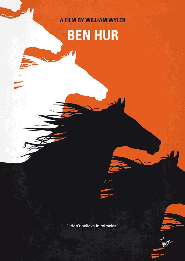 Ben Digital Art - No989 My Ben Hur Minimal Movie Poster by Chungkong Art