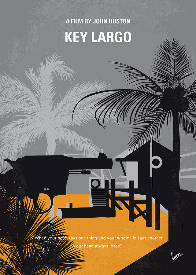 Key Digital Art - No998 My Key Largo Minimal Movie Poster by Chungkong Art