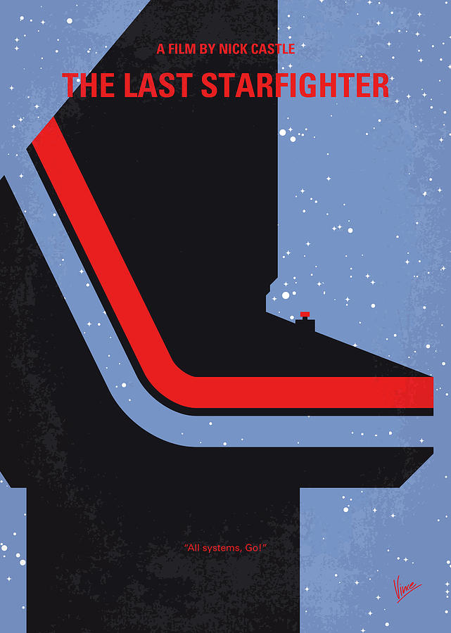 The Digital Art - No999 My The Last Starfighter Minimal Movie Poster by Chungkong Art