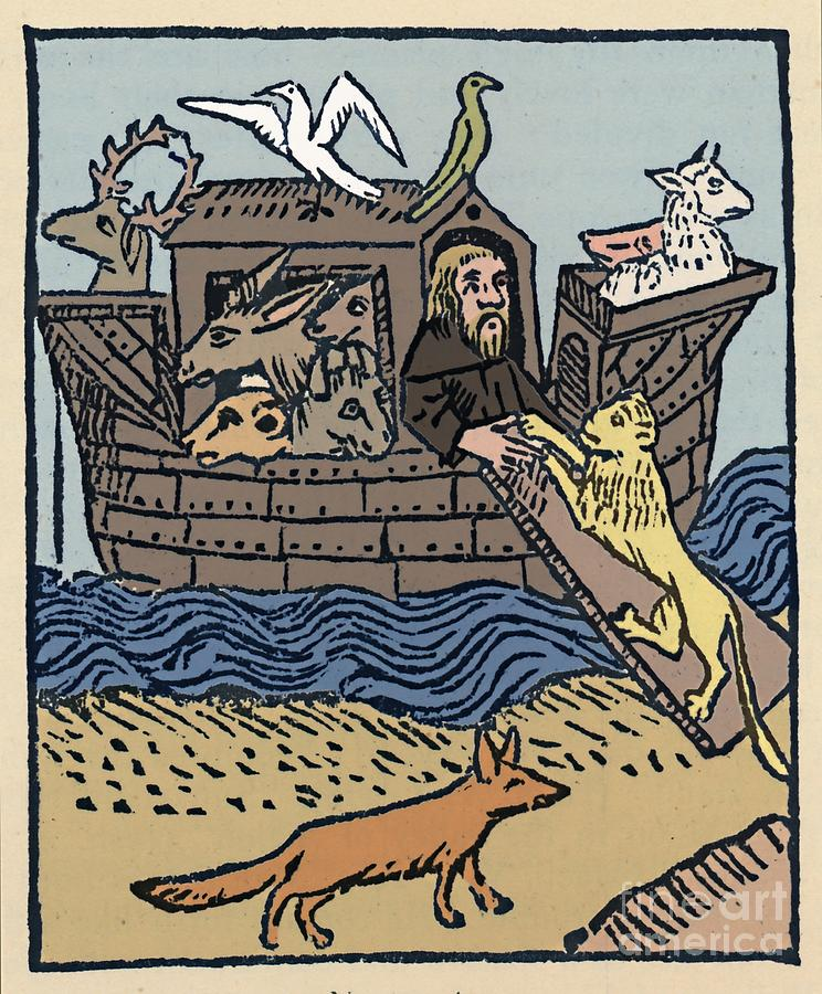 Noahs Ark 1 Drawing by Print Collector