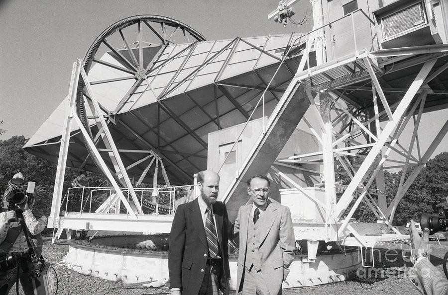 Nobel Prize Winners Wilson And Penzias Photograph by Bettmann
