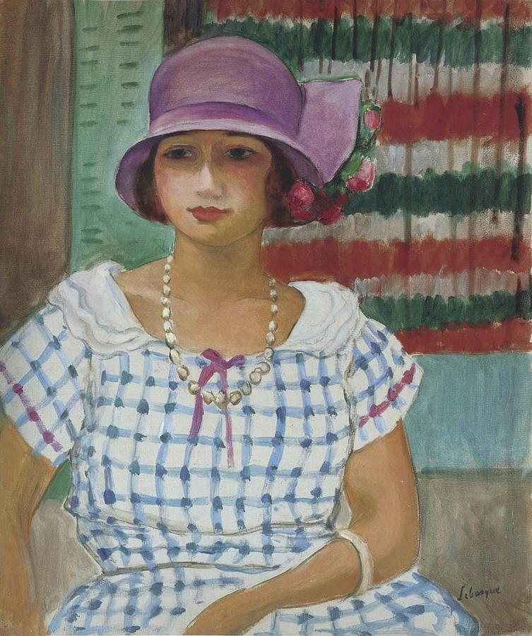 Nono In A Pink Hat, 1915 Painting