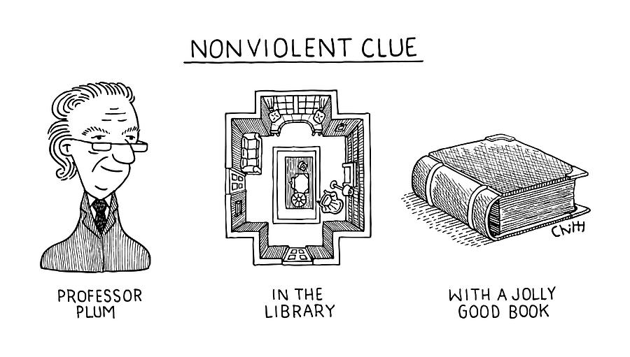 Nonviolent Clue Drawing by Tom Chitty