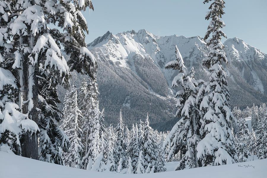 North Cascades Photograph - Nooksack Ridge In Winter by Alan Majchrowicz