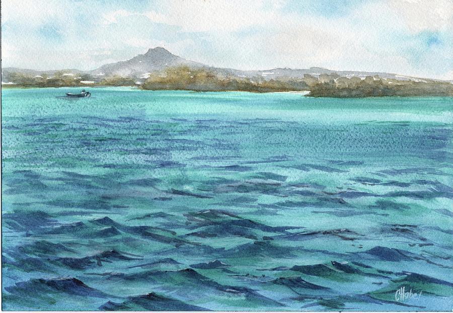 Noosa River Fishing Painting by Chris Hobel