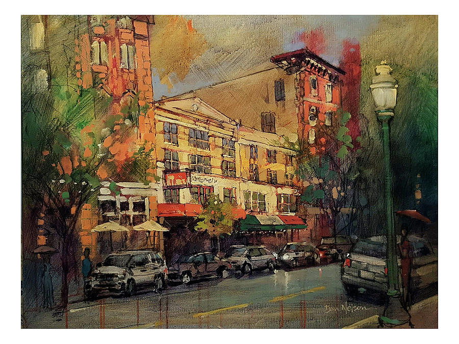 Norfolk Downtown Painting