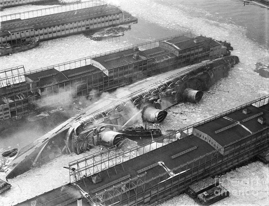 Normandie Capsized In New York Harbor Photograph by Bettmann
