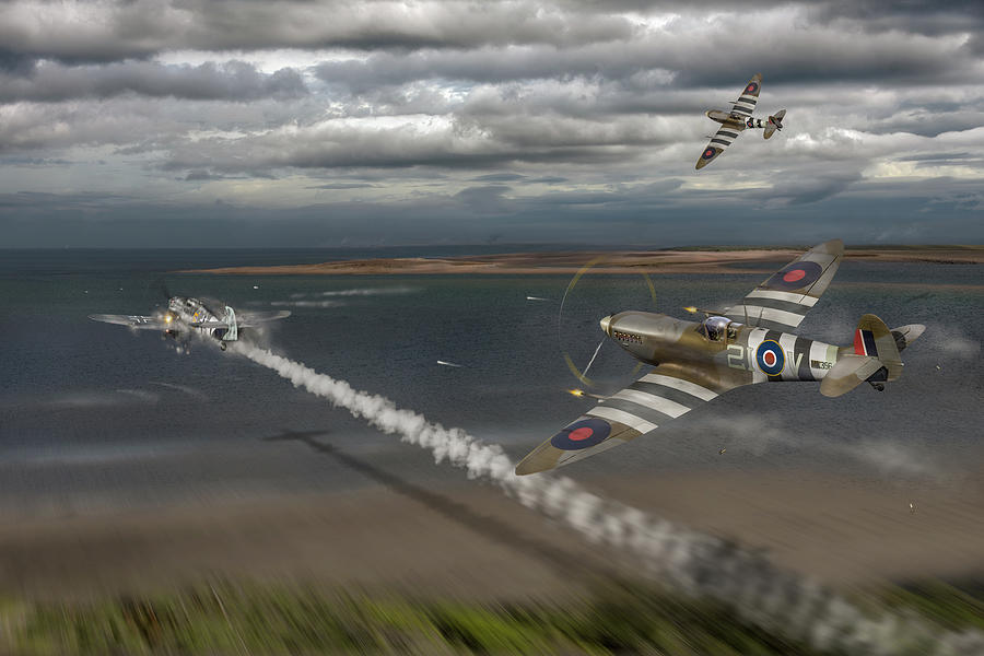 Normandy Spitfire attack by Gary Eason