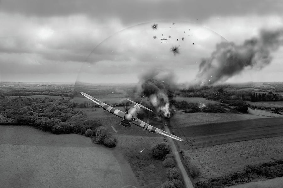Normandy Typhoon shockwave BW version by Gary Eason