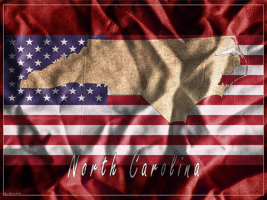 North Carolina Art Map Style 11 by Greg Edwards