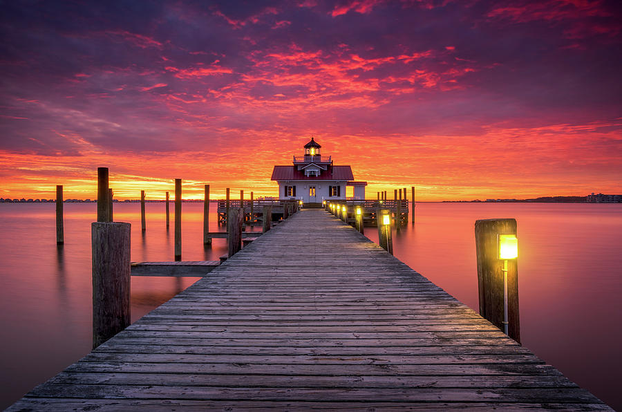 North Carolina Outer Banks Manteo Lighthouse OBX NC by Dave Allen