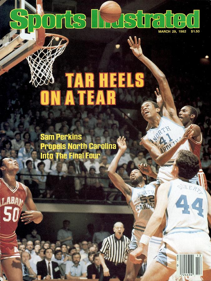 North Carolina Sam Perkins, 1982 Ncaa East Regional Playoffs Sports Illustrated Cover Photograph by Sports Illustrated