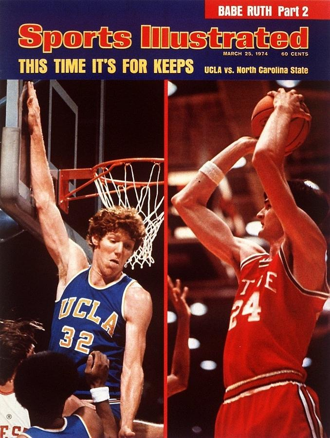 North Carolina State Tom Burleson And Ucla Bill Walton Sports Illustrated Cover Photograph by Sports Illustrated