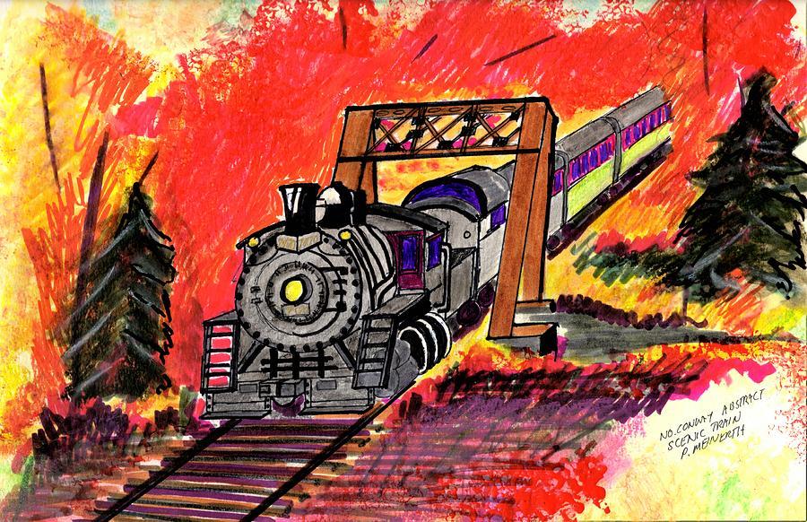 North Conway Sceneic Railroaad Drawing