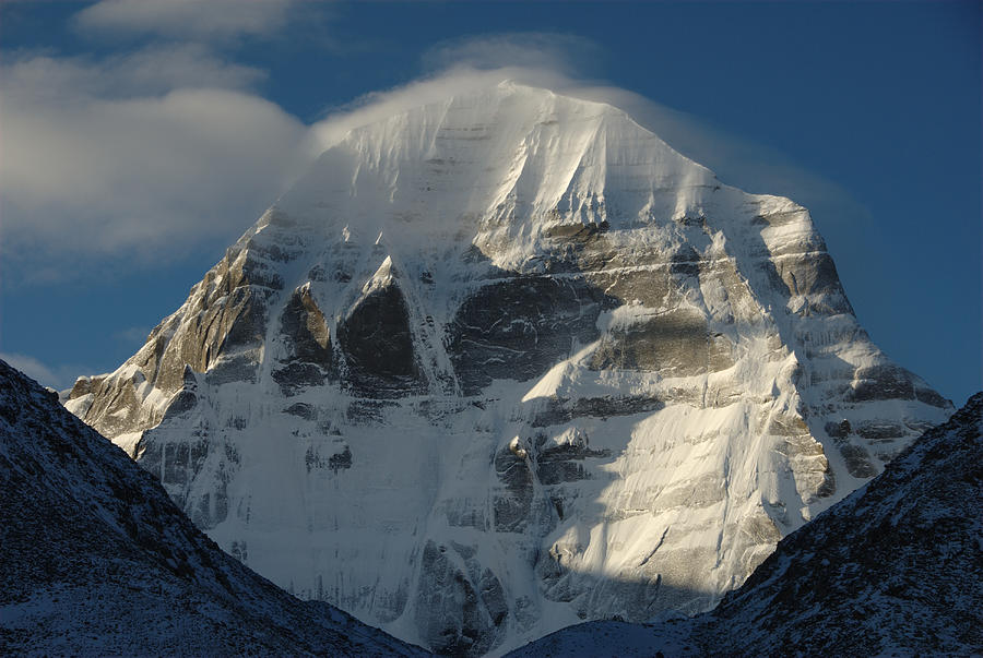 North Face Of Mount Kailash Gang Photograph by Tcp