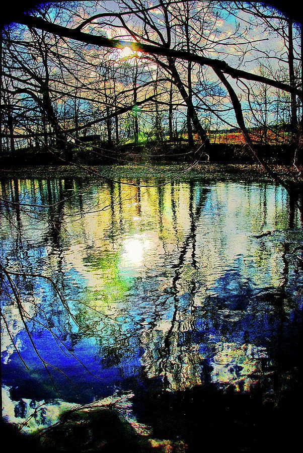 North fork, Shenandoah River at sunset by Bill Jonscher