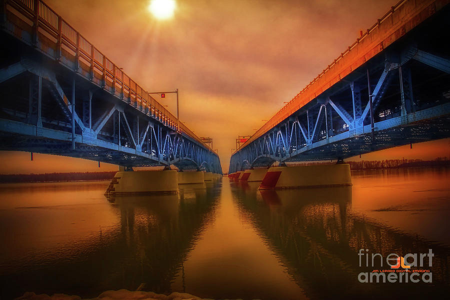 North Grand Island Bridge Photograph by Jim Lepard