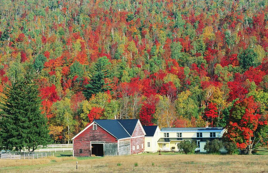 North New Hampshire Landscape Along Photograph by John Elk Iii