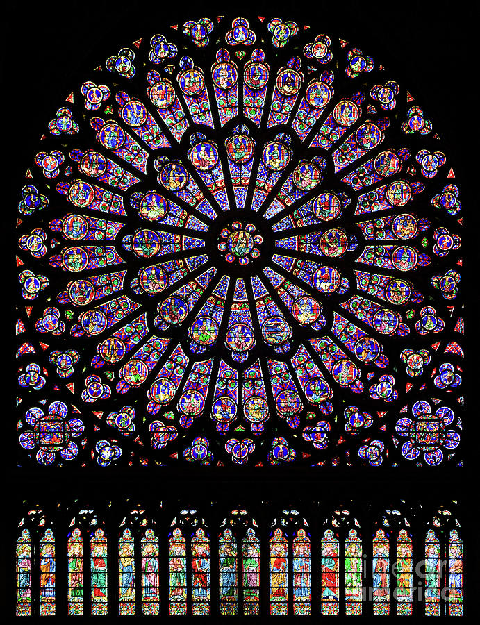 North Rose Window of Notre Dame Cathedral by Doc Braham