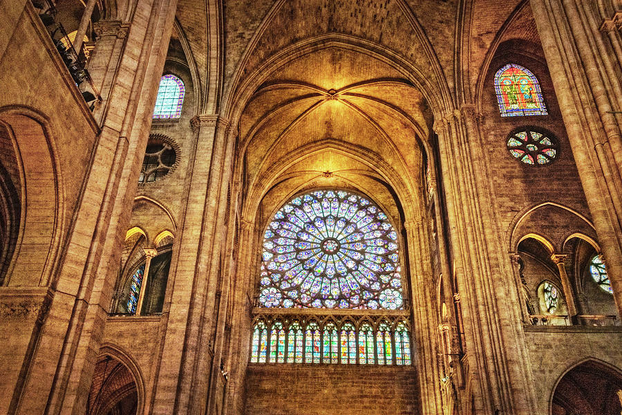 North Rose Window of Notre Dame Cathedral by Kay Brewer