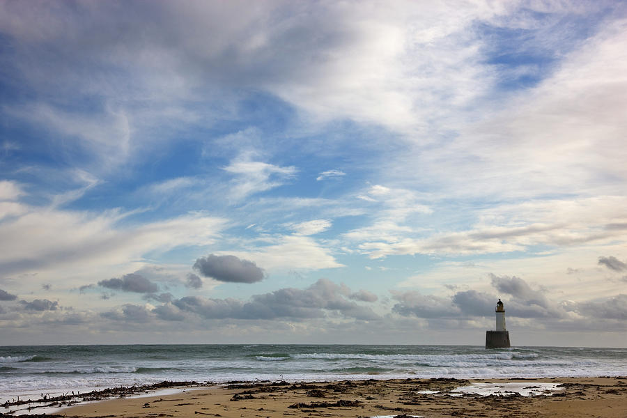 North Sea Lighthouse - Morning Light Photograph by Theasis