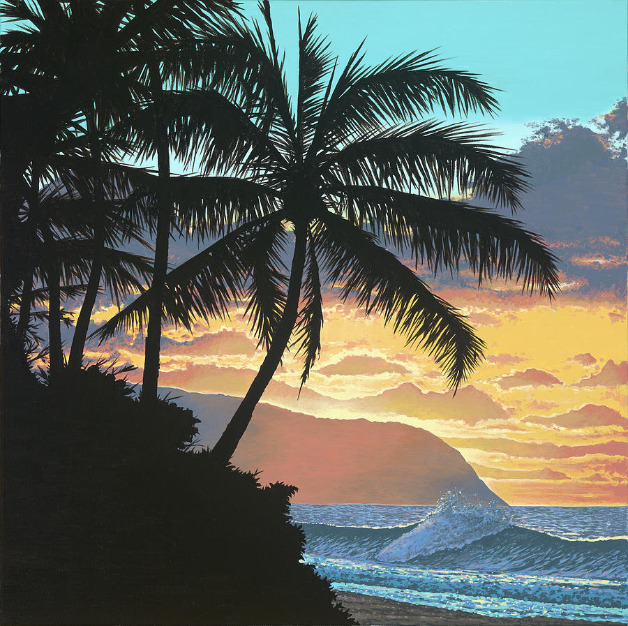 Hawaii Painting - North Shore Twilight by Palmer Artworks