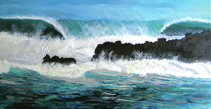 North Shore Wave by Megan Collins