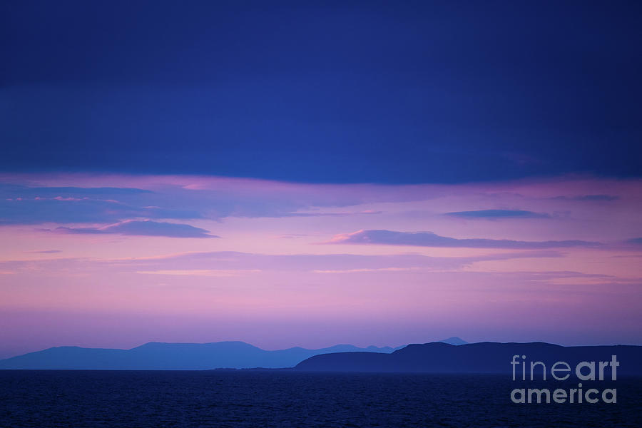 Blue Photograph - North Wales In The Evening by Keith Morris