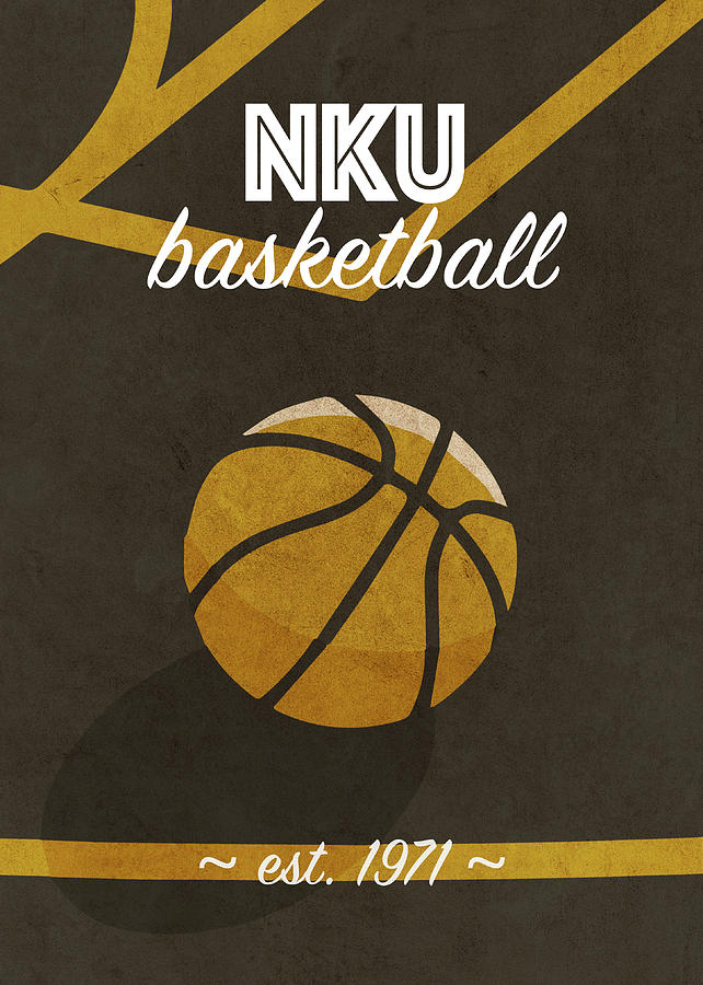 Northern Kentucky Mixed Media - Northern Kentucky Basketball College Retro Vintage Poster University Series by Design Turnpike