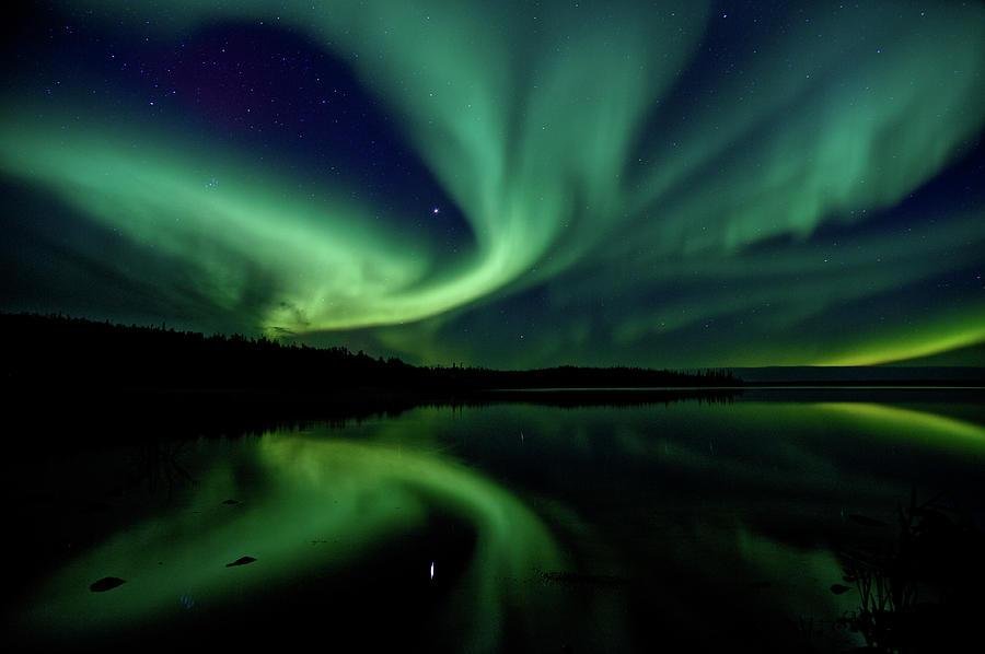 Northern Lights Aurora Boreal Photograph by Steve Schwarz
