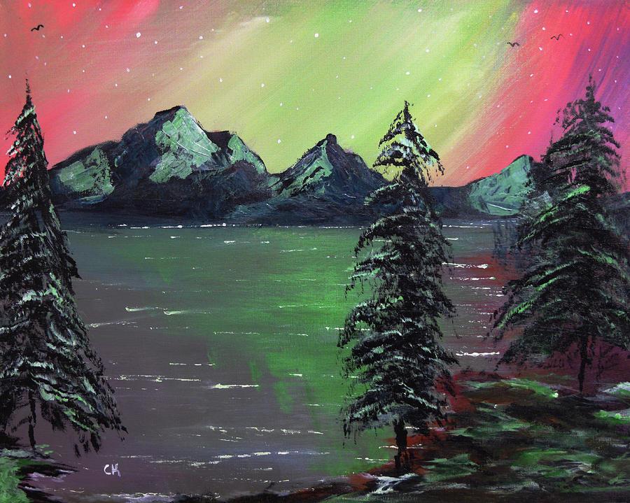 Northern Lights Lake by Chance Kafka