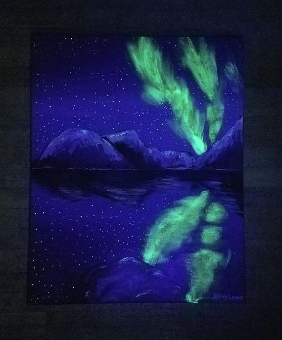 Northern Lights Original  by Jennah Lenae