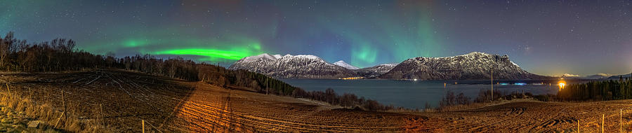 Backgrounds Photograph - Northern Lights Over Grytoya by Kai Mueller
