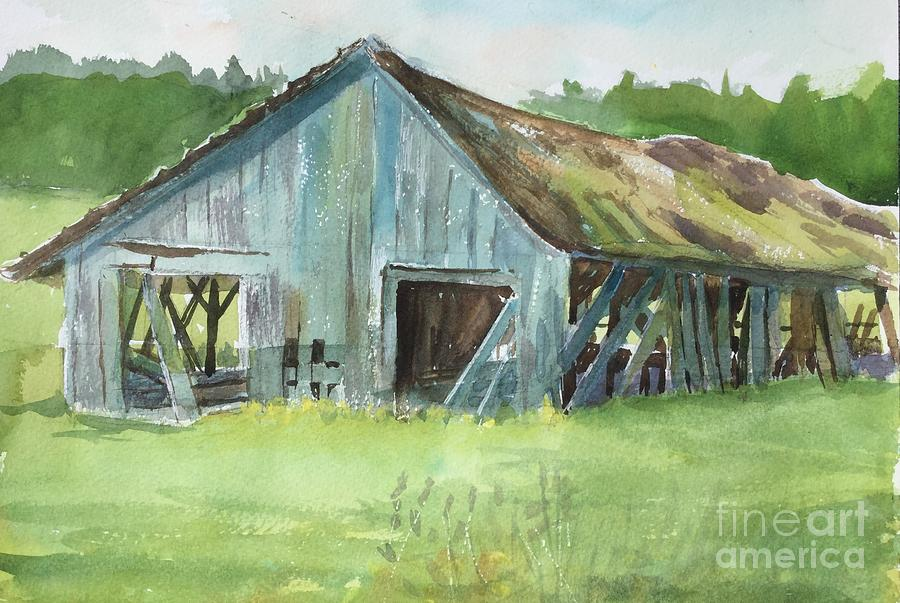 Barn Painting - Northern State Farm, Skagit Valley by Yohana Knobloch