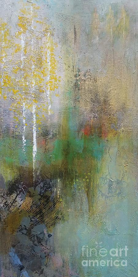 Aspens Painting - Northwest Aspens by Frances Marino