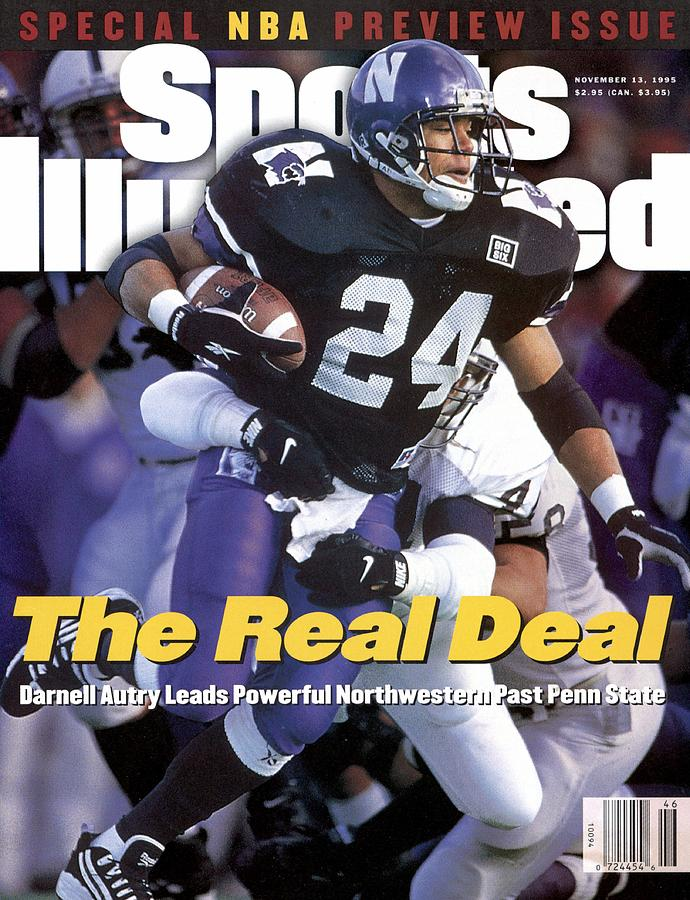 Northwestern University Darnell Autry Sports Illustrated Cover Photograph by Sports Illustrated